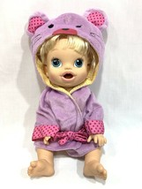 Baby Alive Hasbro 2013 Blonde Doll Interactive Talking Bilingual English Spanish image 2