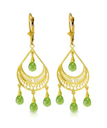 6.75 Carat 14K Gold Barcelona Peridot Earrings - $633.21