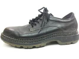 TIMBERLAND 9.5 M SMART COMFORT SYSTEM BLACK OXFORD SHOES LEATHER LACINGS... - $39.95