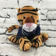 Ganz Webkinz Tiger Plush With Denim Jacket Orange Striped Stuffed Animal... - $14.84