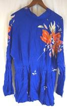NWT FREE PEOPLE Women's Blue Mock Neck Long Sleeve Open Back Gemma Tunic... - $93.83