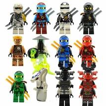 Lot of 12 Custom Lego Ninjago Minifigures Factory Sealed Building Blocks Age 12+ - $33.65