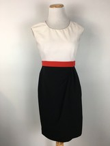 Calvin Klein Women's White & Black Colorblock Short Sleeve Sheath Dress ... - $8.90