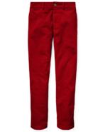 Ralph Lauren Park Avenue Red Slim-Fit Stretch Corduroy Pants - Boys Red Size 18 - $39.59