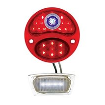 United Pacific LED 12V Tail Light Lens w/Blue Dot For 1928-31 Ford Model A - L/H - $56.99