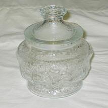 Anchor Hocking Rainflower Pattern Clear Candy Jar w/Lid - $16.78