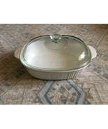 1980s Corning Ware French White 4 Qt Oval Casserole w/Glass Lid - $60.00