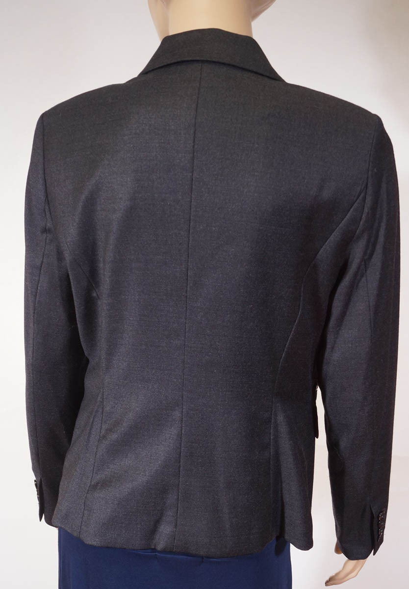 Michael Kors Derby Womens Grey Wool Lined 1 Button Suit Jacket Blazer 10