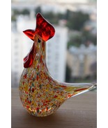 Vintage Heavy Art Glass Rooster Statue Figurine Murano Italy Paperweight... - $39.59