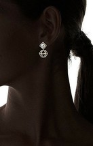 NEW Daniela Swaebe 18K Gold-Plated Origami Swarovski Crystal Earrings image 2