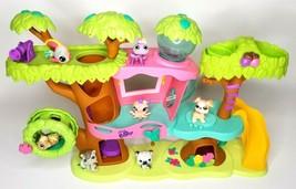 Littlest Pet Shop Magic Motion Tree House Play Set LPS Plus 7 Figures Hasbro - $47.88