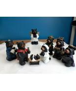 SLIFKA Co, Rustic Style 8pc Black Bear Christmas Nativity Resin Figurines - $39.55