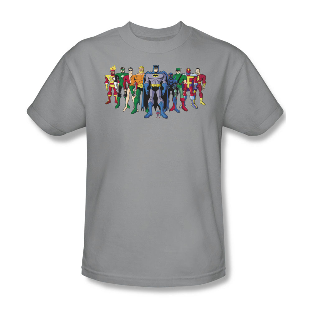 At dc comics superhero s group tshirt batman superman aquaman flash for sale online graphic tee