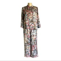 Signals Asian Floral 2 Piece Silk Pajamas Size M - $54.45