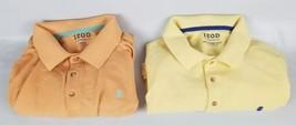 (Lot of 2) IZOD The Advantage Polo Shirt 3XB 3XG 3XBT Big & Tall Yellow ... - $18.42