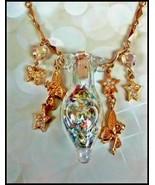 KIRKS FOLLY large amulet pendant bottle of Magic Fairy Dust gold-tone ch... - $74.25