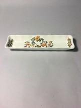 VINTAGE AYNSLEY Fine English China Relish Olive Cottage Garden plate oblong - $16.82