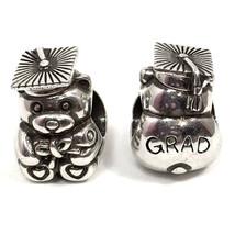 Brighton Grad Bear Charm, JC1290, Graduation, Silver Finish, New - $14.24
