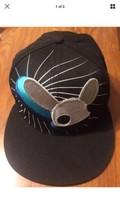 DEADMAU5 Black FLAT BILL SNAPBACK Embroidered BLUE GRAY LOGO Baseball CA... - $10.67