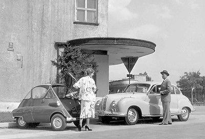 Primary image for 1955 BMW 502 V8 & BMW Isetta - Promotional Photo Poster