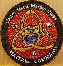 "[Single Count] Custom & Unique ( 4 "" Inches) USMC MATERIEL COMMAND Iron-... - $14.84"