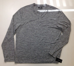 $40 Alfani Men's Long-Sleeve Crewneck T-Shirt, Smooth Silver, Size L - $19.79