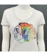 Chicago Black Hawks T Shirt Womens Medium Forty Seven Brand Gray Tee Shi... - $10.00