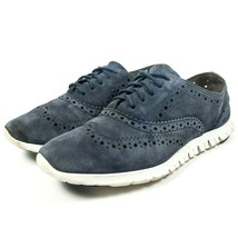 Cole Haan Zerogrand Blue Suede Leather Wingtip Oxford Shoes Womens Size 7 - £42.93 GBP