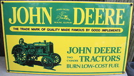 John Deere 2 Cylinder Tractor Sign - $175.00