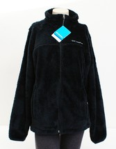 Columbia Black Plush Fleece Cloudy Day Full Zip Jacket Women's NWT - $93.74