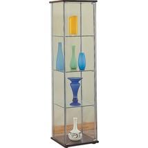Curio Case Display Cabinet Metal Glass Storage ... - $187.00