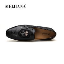 Autumn Shoes Men MEIJIANA Genuine Fashion Men Black Leather Loafers 2018 Spring pwF4E