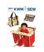 Kwik Sew K3643 Shopping Cart Seat Cover and Diaper Bag with Changing Pad... - $15.68