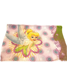 Disney Tinkerbell Fairies Floral Pink Standard Twin Pillowcase Crafters ... - $14.84