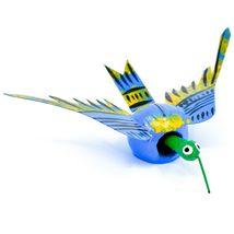 Oaxacan Copal Wood Carving Folk Art Humming Bird Hummingbird Bobble Head Figure image 4