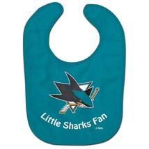 San Jose Sharks Baby Bib All Pro Little Fan Ice Hockey Sports Blue New - $7.91