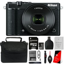 Nikon 1 J5 Mirrorless Digital Camera with 10-30mm Lens and 8GB Kit - $329.11