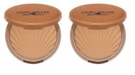 2 x Laura Geller Water Resistant Impressions LIGHT Matte Bronzer LOT! New in Box - $18.99