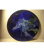 """12"""" Vinyl Music Record Wall Art - Fluid Acrylic Flowing Poured Paint 006 - $28.45"""
