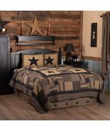 Black Check Star Quilt Sets primitive Patchwork 3/pc Farmhouse Gift Wed... - $149.00+