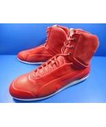 2101 Italian made PUMA × Ferrari Collaboration Sneaker Red Leather US11  - $326.70