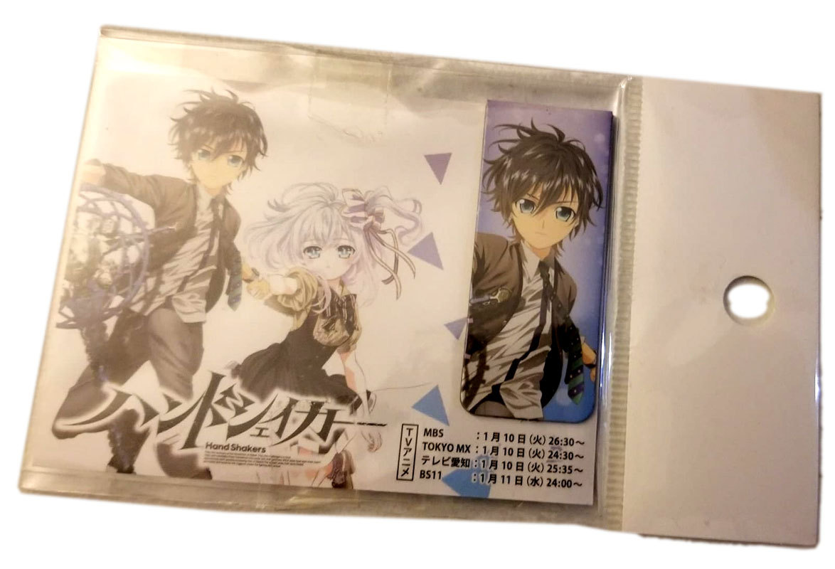 "Hand Shakers ""Tazuna & Koyori"" Anime Furoku Bookmark Clip"