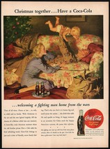 Vintage magazine ad COCA COLA from 1948 Christmas together Haddon Sundbl... - $12.99
