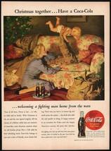 Vintage magazine ad COCA COLA from 1948 Christmas together Haddon Sundblom art - $12.99