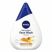 NIVEA Face Wash, Milk Delights Moisturizing Honey, Dry Skin, 100 ml - $15.54