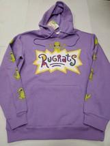 NWT Rugrats Nickelodeon Men's Purple Hoodie Sweatshirt Medium New With Tags - $49.49