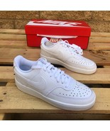NIKE WMNS COURT VISION LOW WHITE LOW TOP CASUAL LIFESTYLE SNEAKER CD5434... - $59.99