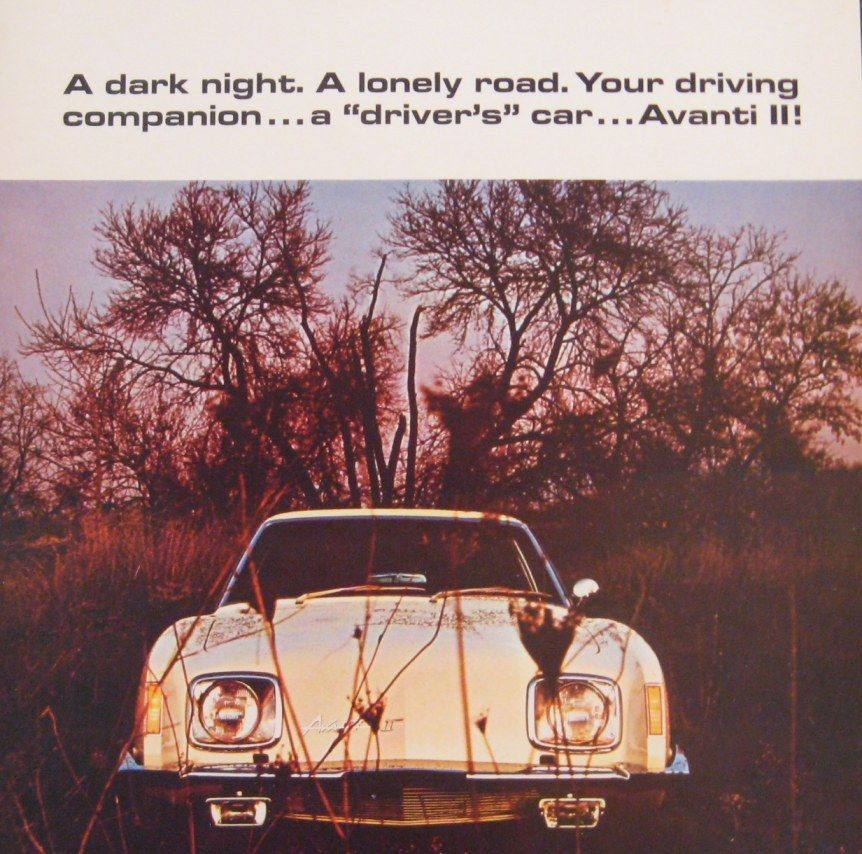 1969 1970 1971 Avanti II Color Brochure, Original