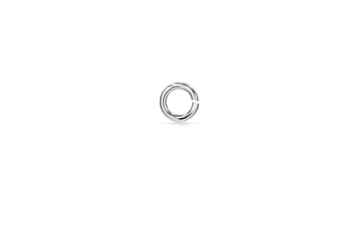 Primary image for Jump Rings, Twist and Lock, Sterling Silver, 20Gauge 4mm, Pkg Of 50pcs (8532)/1