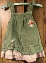 Infants Sz 18 M Vintage Strawberry Shortcake embroidered Corduroy Dress... - $24.50